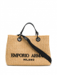 women's shopping bag 84346 natural/nero/nero